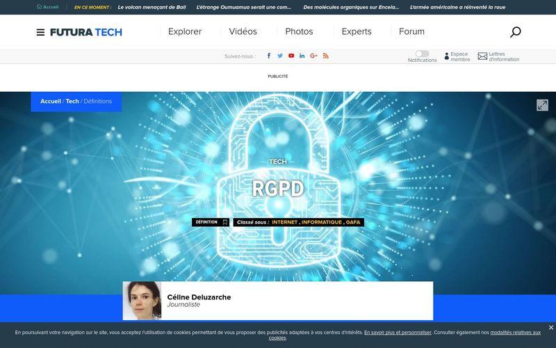 Futura Tech : Règlement général sur la protection des données